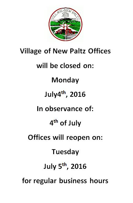 Offices Closed on 4th of July
