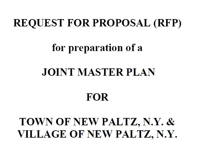 Request for Proposals for a Joint Master Plan