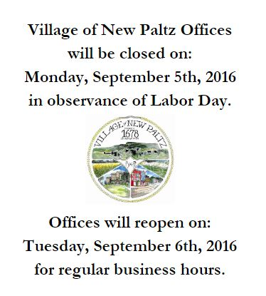 labor day closure