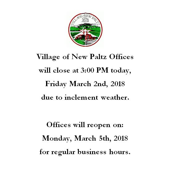Offices Closing at 3:00 PM Today, Friday March 2nd 2018 ...